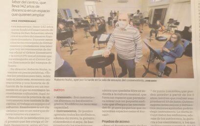 El Conservatorio de nuevo en los medios. Se denuncia falta de espacio.